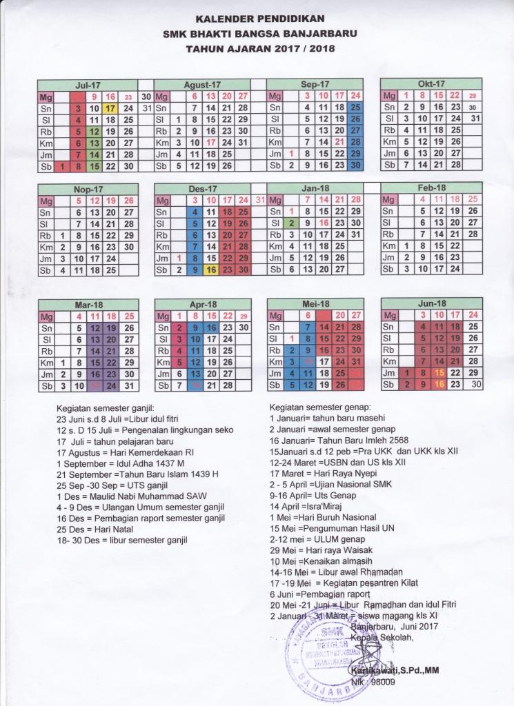 Kalender Pendidikan 2017 / 2018