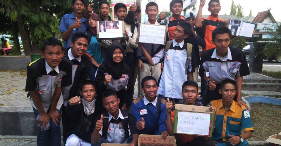 OSIS SMK Bhakti Bangsa Ikut mendukung dalam kegiatan Amal