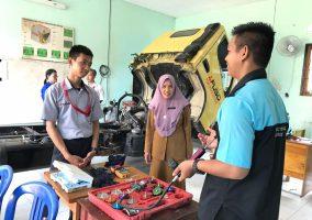 Pelaksanaan UKK Jurusan Teknik Kendaraan Ringan Otomotif (TKRO)