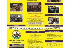Telah di buka Pendaftaran Siswa Baru SMK Bhakti Bangsa Banjarbaru Tahun Pelajaran 2019 / 2020