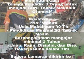 Lowongan Pekerjaan SMK Bhakti Bangsa Banjarbaru