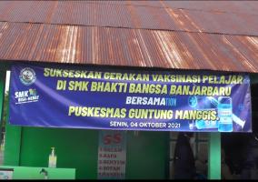 Kagiatan_Vaksinasi Siswa & Masyarakat Umum Bertempat di SMK Bhakti Bangsa Banjarbaru.